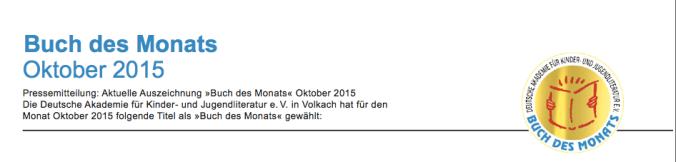 Buch des Monats Oktober 2015_Header